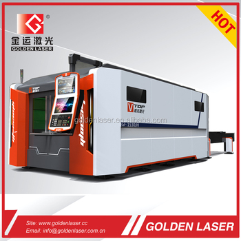 fiber laser cutter 2kw with removable pallets for carbon steel 16mm, stainless steel 8mm
