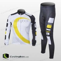 Polyester Fabric custom 2012 High quality anti-bacterial black-white men's cycling/biking clothing sets