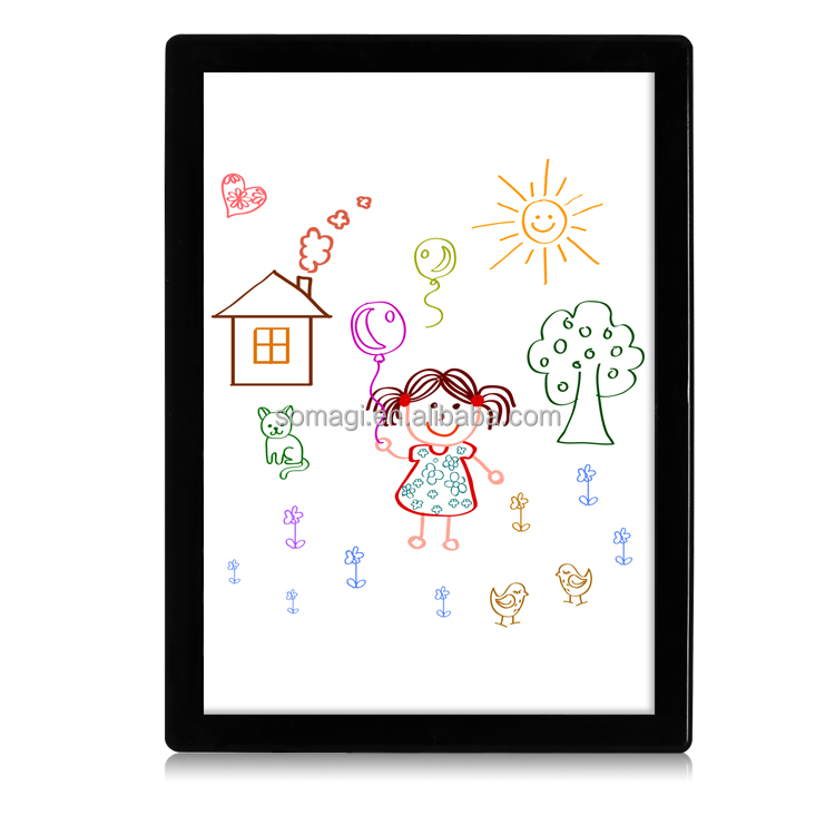 2017 New design kids drawing board high quality LED writing & whiteboard
