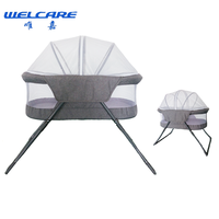 New Design Soft Fabric Baby Folding Bed Swing Bed