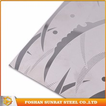 Tisco 904L etching stainless steel sheet, decorative stainless steel wall panel