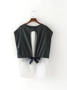 MS75180L Korean style women sleeveless one pcs tops