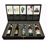 Custom Wholesale Large Capacity Leather Wine Box Bottle Packing Case With Picture Album