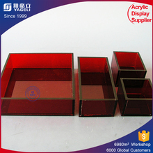 Various shape color personalized acrylic tray chilled serving tray party platters condiment and vegetable serving display