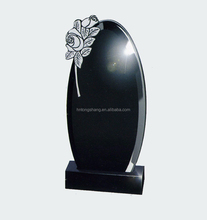 high quality shanxi black granite funeral monument a cheap prices