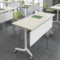 computer desk QM-19 with wheels Office meeting Training folding table
