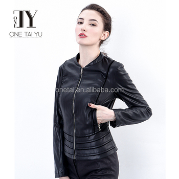 2016 EUROPEAN FASHION FLOD DESIGN NEW FACTOR BIKER WOMEN SEXY PU LEATHER JACKET