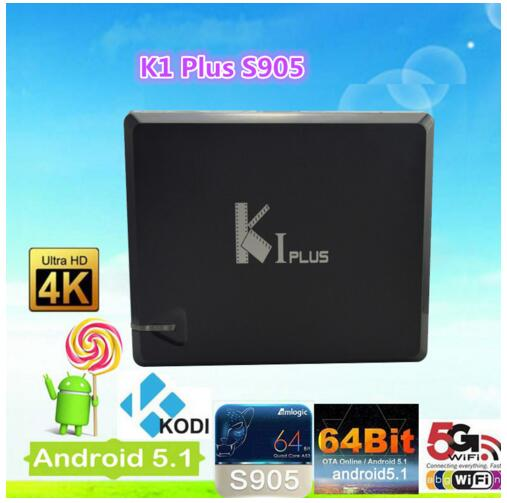 Europe KI Plus S905 kodi tv box 4k Quad core Combo DVB T2 dvb s2 K1 plus android tv box