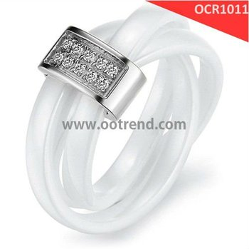 Best seller top seller hot sale white ceramic with aaa zircon stone inlay