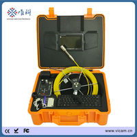 "DVR 50M waterproof 7""monitor sewer camera pipeline drain pipe inspection system tube video camera"