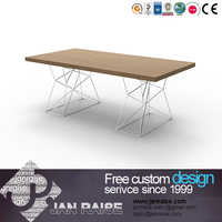 Modern design dining room talbe thick wood slab dining table, luxury dining table