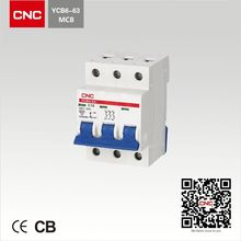 MCB YCB6-3P general switch circuit breakers