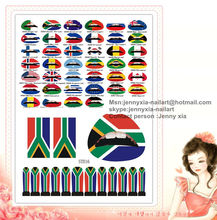 HOT SELL !!! flag lip tattoo stickers for olympics
