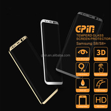 Wholesale 9H hardness 3D curved full cover for S8 plus screen protector tempered glass for Samsung Galaxy S8/s8 plus