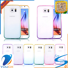 Soft tpu silicone gradient smart phone case for SAMSUNG galaxy s6 edge plus