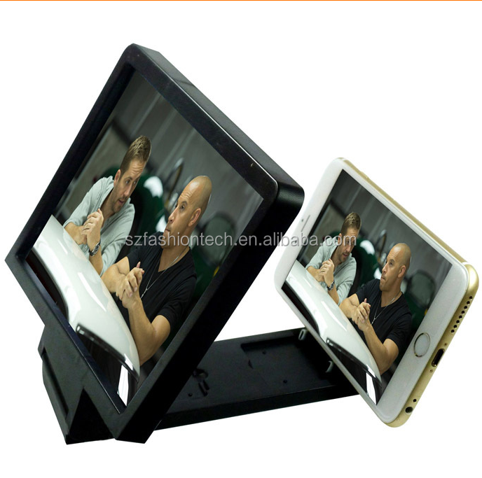 2015 Foldable Mobile Phone screen magnifier bracket,3D mobile phone screen magnifier,stand Enlarge Cellphone Magnifier