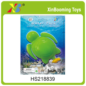 Kids Plastic pull line swimming Turtle water & bath toy
