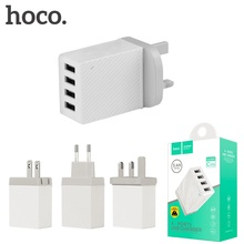 HOCO C23 5V 2.1A 2 Amp Universal Mobile Cell Phone Travel Portable Fast UK US EU Charger Adapter 4 Port USB Wall Charger