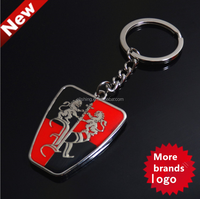 Wholesale Bulk Fashion Car Logo Rubber Metal Key Ring Keychain Key Engraved Mens Women Gift Key ,can be cuatom