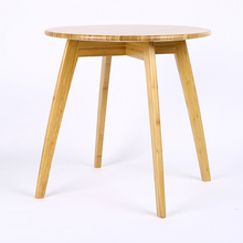 high quality round fashionable bamboo wooden dining table and chairs