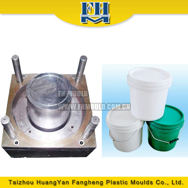 taizhou huangyan plastic injection mould maker plastic paint bucket mould