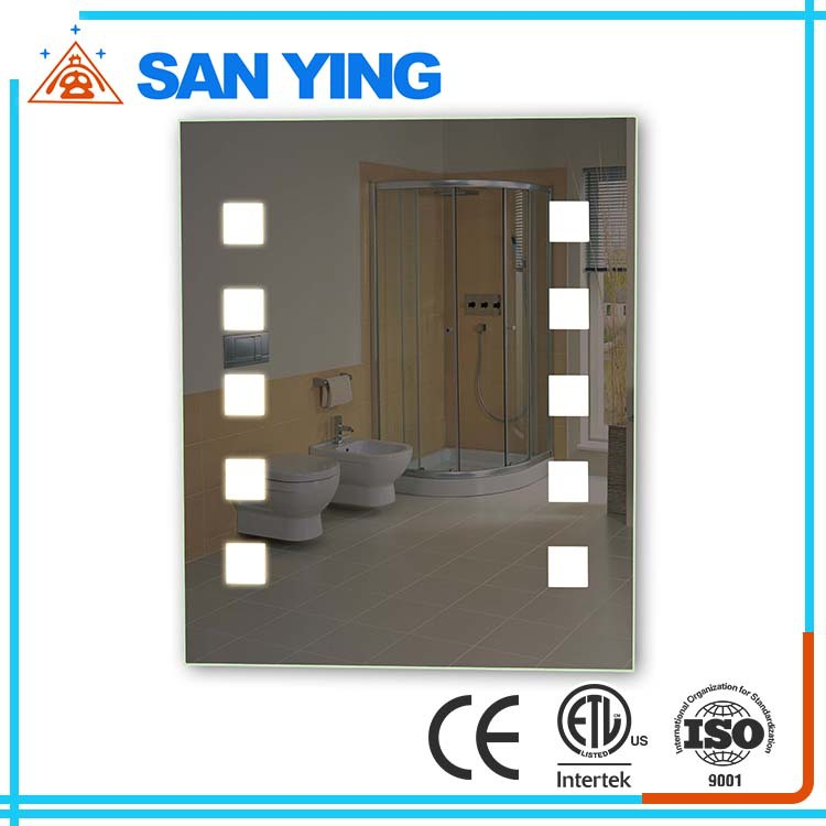 Frameless LED backlit mirror bathroom Illuminated Lighted Vanity Wall Mounted Mirror cETL CE RoHS IP44