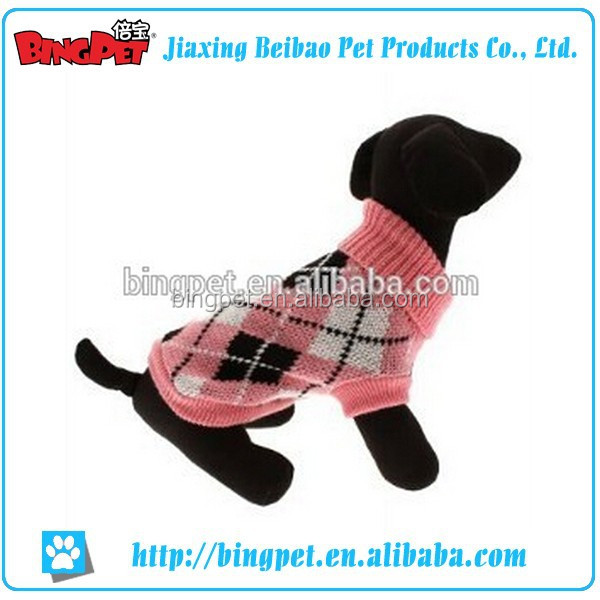 wholesale dog sweater fashion design sweater pet dog clothes argyle dog sweater