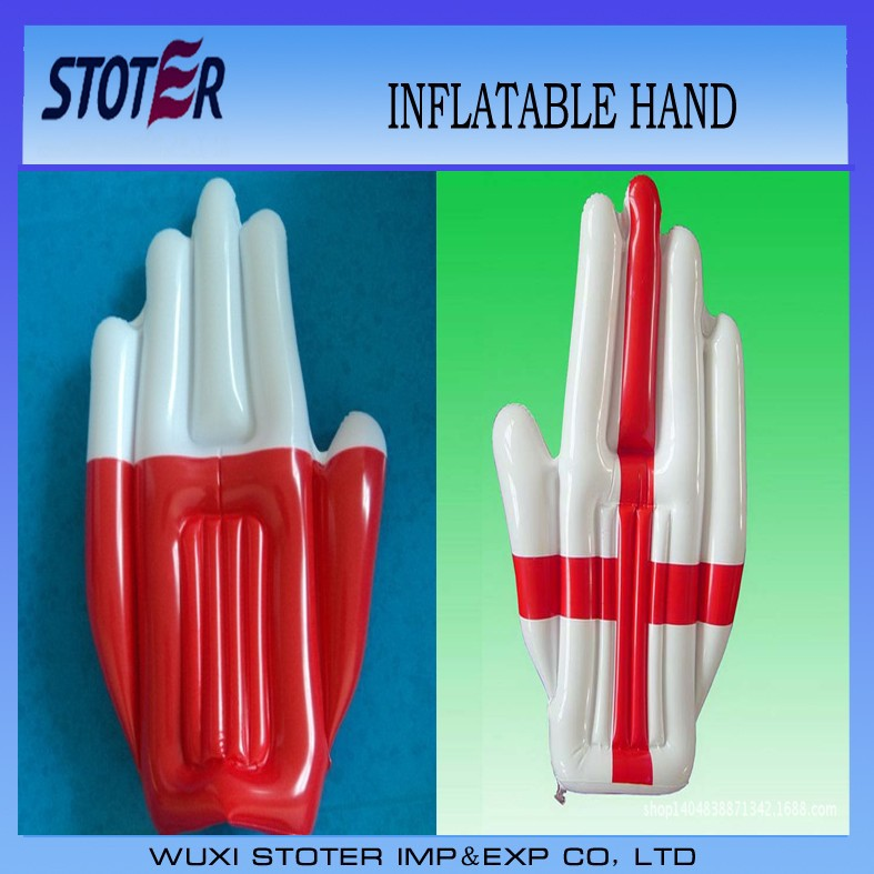 promotional custome PVC inflatable cheering hands , cheering hand