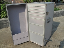 Flight case large capacity china aluminum case drawers trolley
