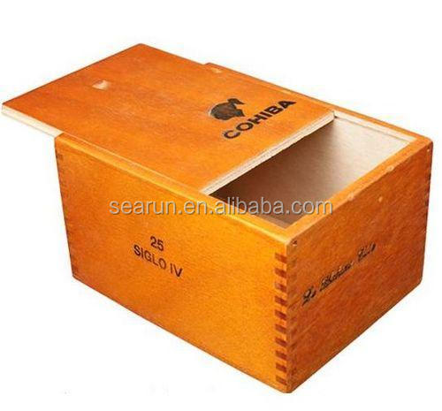 Sliding Lid Cuba Style Wooden Cigar Case Storage Gift Christmas Box