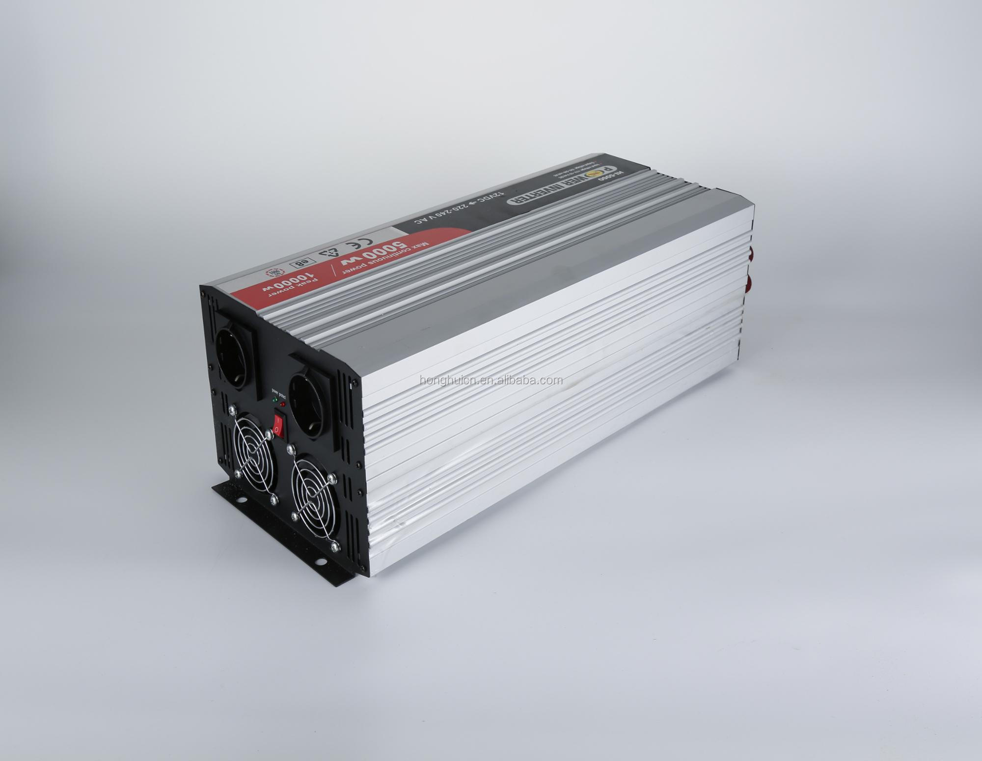 5kw pure sine wave inverter dc12v to ac 230v/240v/110v/120v