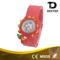 Hot new product for 2016 cute animal style kids slap watch
