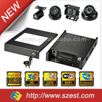 Free CMS Software Tracking system Nigth Vision Audio Camera 3G 4CH MDVR Car in CCTV DVR Camera for Bus/Taxi/Truck/School Bus