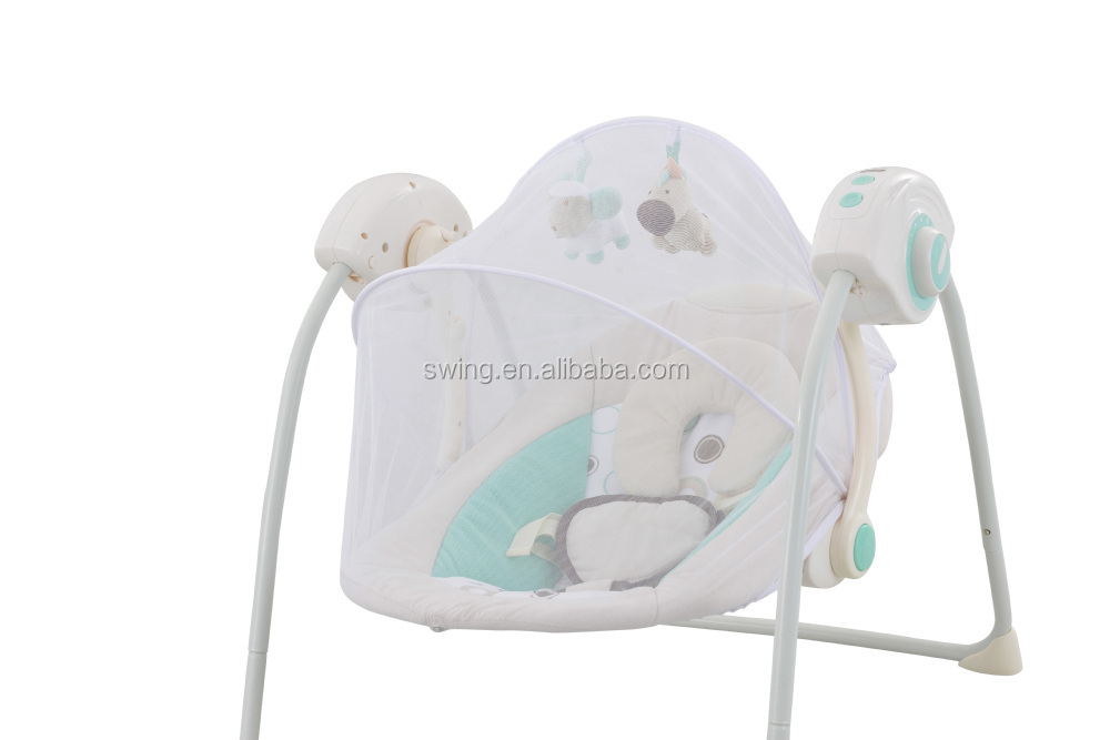 Portable electric baby crib/baby swing