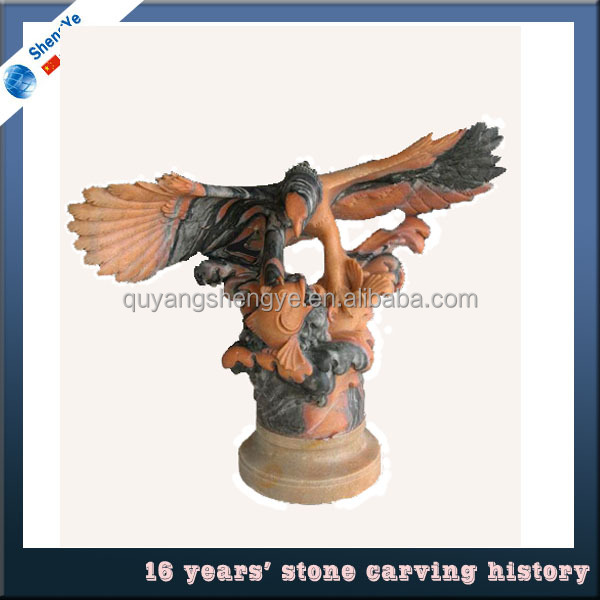 Stone Eagle Statues For Garden Decoration W114*H100cm