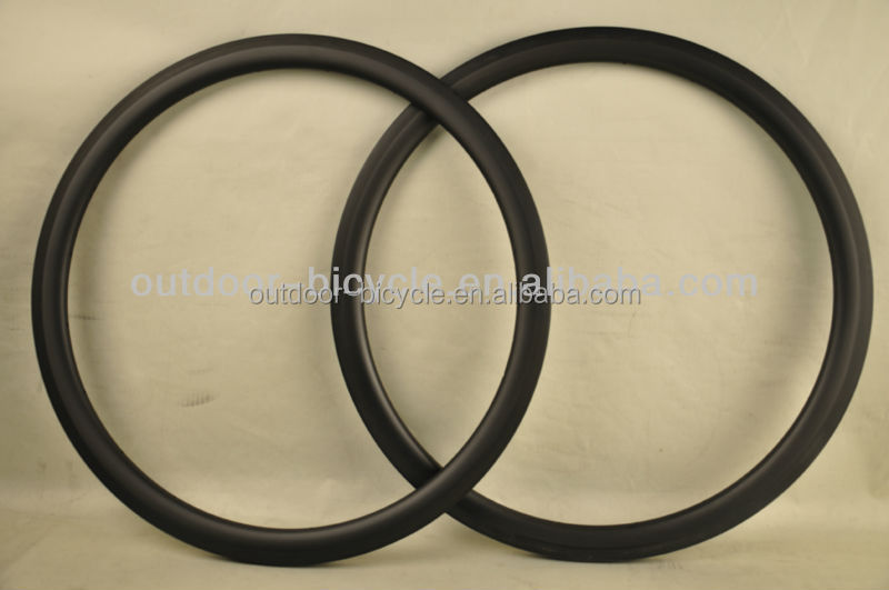 New aero design 40mm clincher rims 700C carbon road bike rims with UD matte finish