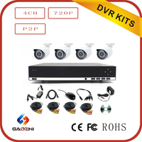 Hot sale ! HD 4CH 720P H.264 / MPEG4 1ch VGA+1ch HDMI cctv ahd dvr kit