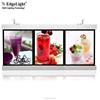 Edgelight AF61 milk tea light box menuboard , aluminum profile , PMMA LED advertising led flat panel displays