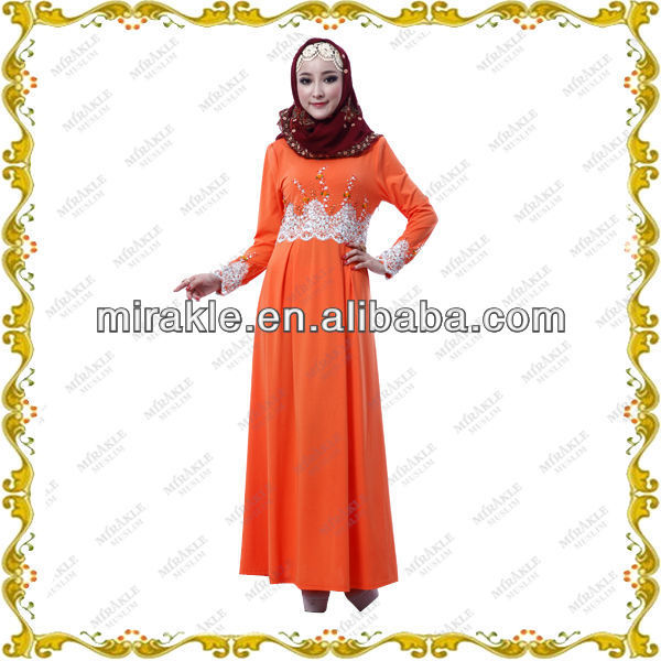 MF20589 Unique Islamic women clothing Saudi Thobe