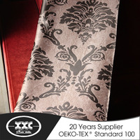 High quality popular hotel jacquard heavy blackout curtain fabric 2015