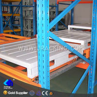 2014 warehouse storage and powder coating metal push back rack system