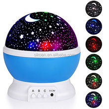 Star Night Light Rotating Indoor Projector Lamp Space Twilight Ceiling Lighting for Baby Kids Children's Room