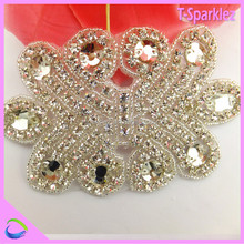Hot Fix Bling Crystal Embroidery Handmade Rhinestone Applique