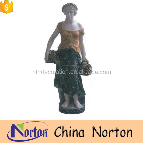 garden marble greek lady statue sculpture NTMS0727S