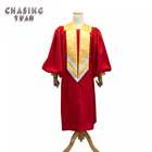 Wholesale Luxurious Red Church Choir Robe