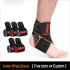 Breathable Elastic Ankle Wrap Brace for Running Basketball Ankle Sprain