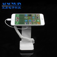Hot sale security mobile phone display stand holder with alarm and charger perfect for showing to customer