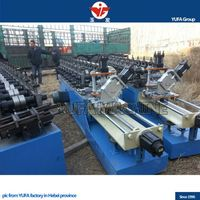Automatic change size C Purlin z shape stud roll foming machine