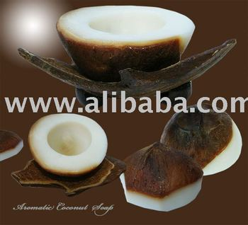 Extra Virgin Coconut Soap in Coconut Shape Package Excellent SPA Item
