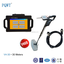 More than 10 years experience PQWT Long rang used gold metal detector model V4 50m